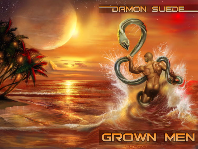 Grown Men by Damon Suede (full wrap cover)